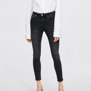Zara Premium The 80's Skinny Jean Smokey Black